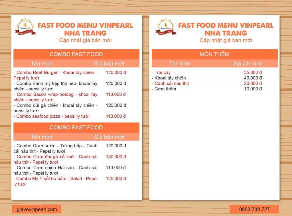 menu vinpearl nha trang 6