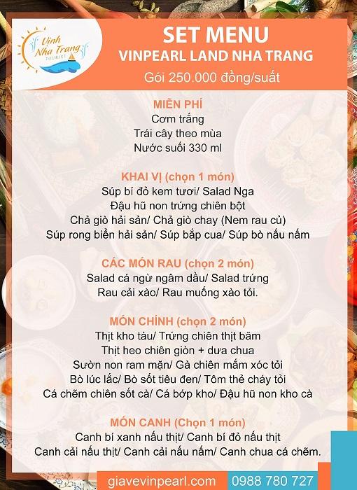 menu don 250k vinpearl land min